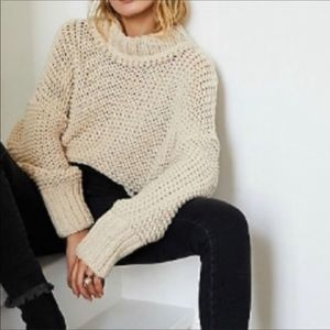 Free People My Only Sunshine Cowl-Neck Sweater